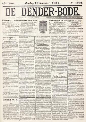 De Denderbode 1884-11-16