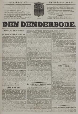 De Denderbode 1854-03-19