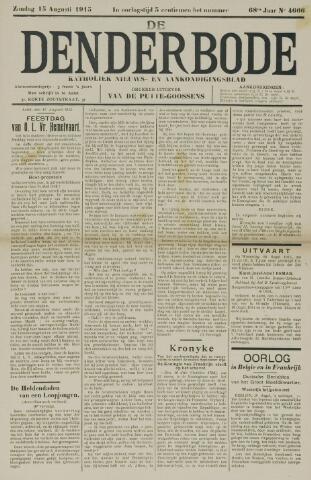 De Denderbode 1915-08-15
