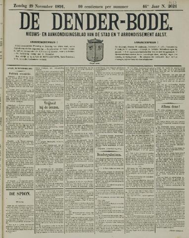 De Denderbode 1891-11-29