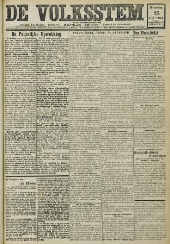 De Volksstem 1931-09-23
