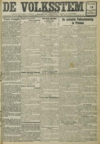 De Volksstem 1931-08-12