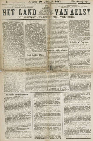 Het Land van Aelst 1884-01-20