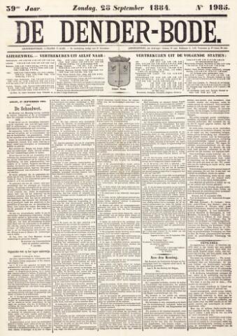 De Denderbode 1884-09-28