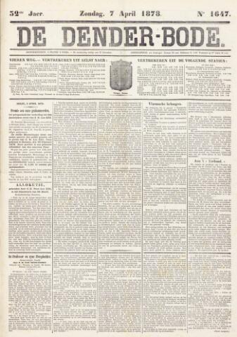 De Denderbode 1878-04-07