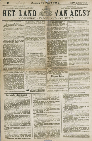 Het Land van Aelst 1884-03-16