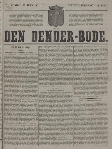 De Denderbode 1851-06-22