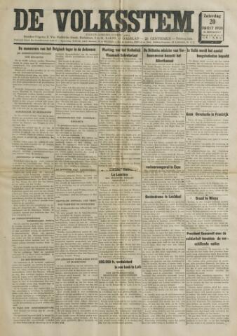 De Volksstem 1938-08-20