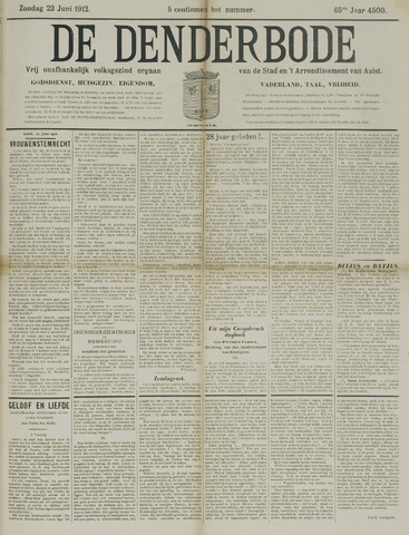 De Denderbode 1912-06-23