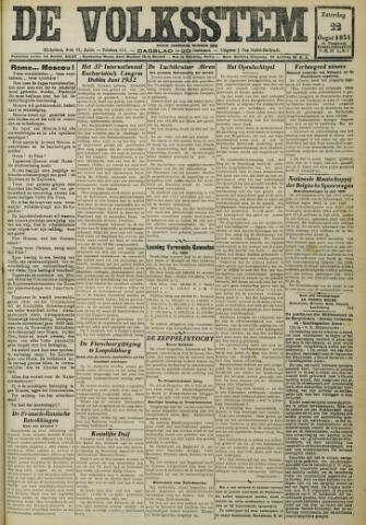 De Volksstem 1931-08-22