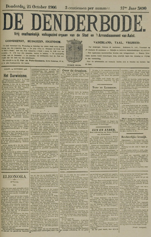 De Denderbode 1906-10-25