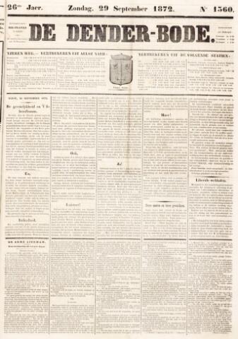 De Denderbode 1872-09-29