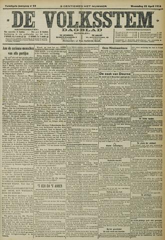 De Volksstem 1914-04-22