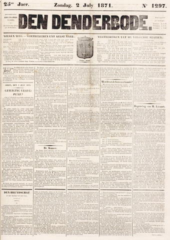 De Denderbode 1871-07-02