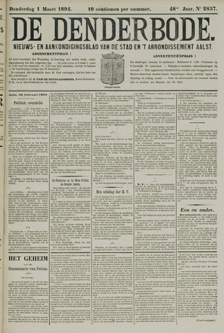 De Denderbode 1894-03-01