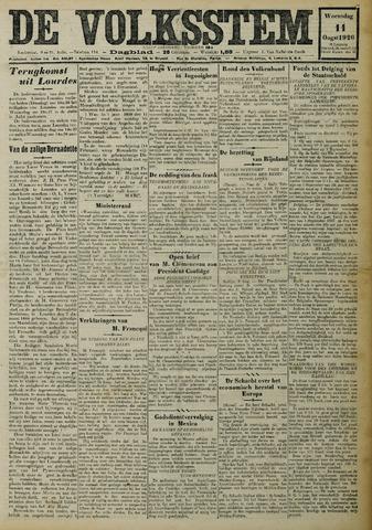 De Volksstem 1926-08-11