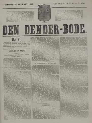 De Denderbode 1851-08-31