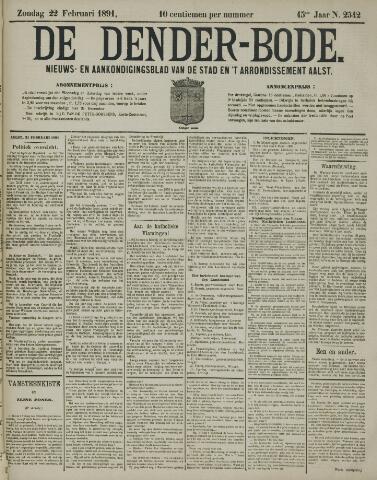 De Denderbode 1891-02-22