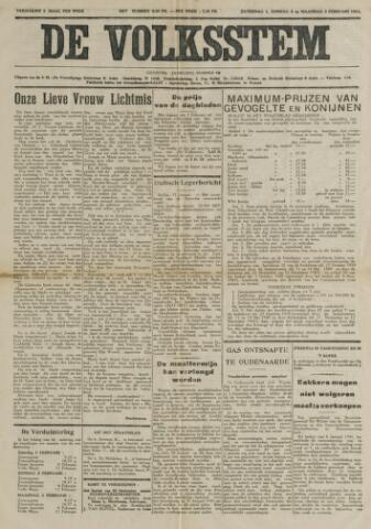 De Volksstem 1941-02-01