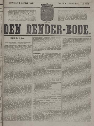 De Denderbode 1851-03-02