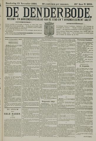 De Denderbode 1894-11-15