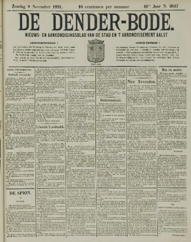 De Denderbode 1891-11-08