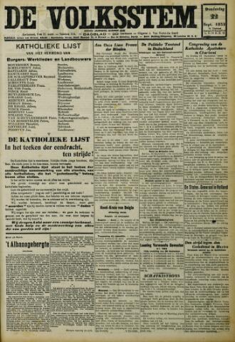 De Volksstem 1932-09-22