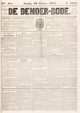 De Denderbode 1871-10-29