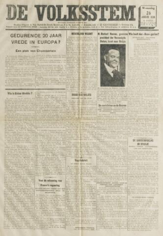 De Volksstem 1938-01-26