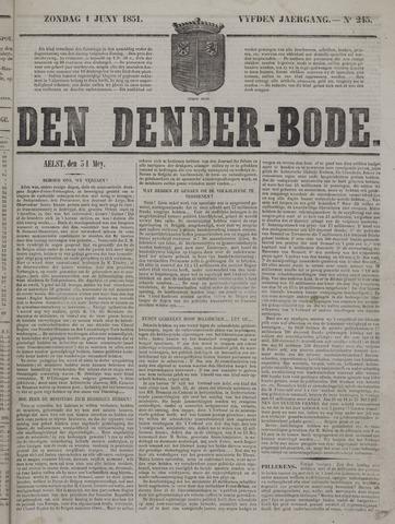 De Denderbode 1851-06-01