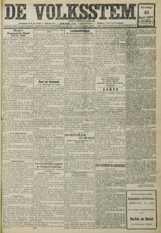 De Volksstem 1931-04-25