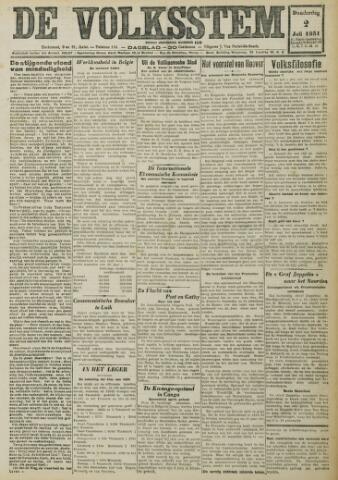 De Volksstem 1931-07-02