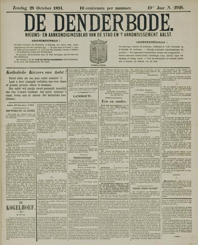 De Denderbode 1894-10-28