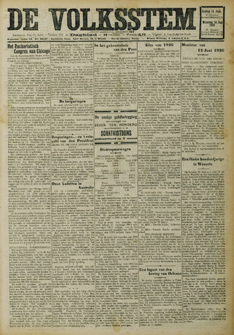De Volksstem 1926-06-13