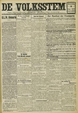 De Volksstem 1932-09-08