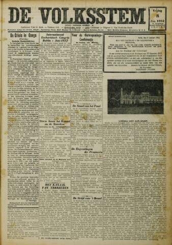 De Volksstem 1932-01-08