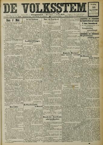 De Volksstem 1926-04-16
