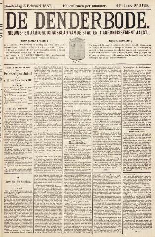 De Denderbode 1887-02-03