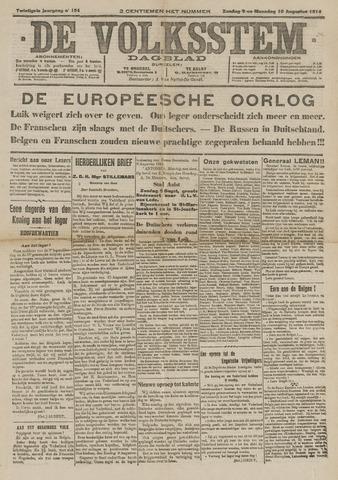 De Volksstem 1914-08-09