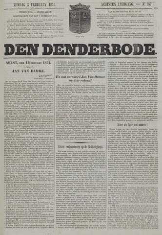 De Denderbode 1854-02-05