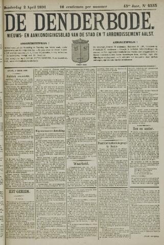 De Denderbode 1891-04-02