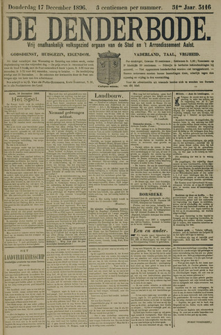 De Denderbode 1896-12-17