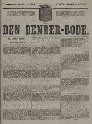 De Denderbode 1851-02-23