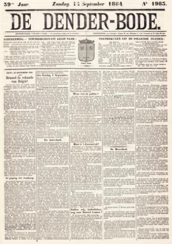 De Denderbode 1884-09-14
