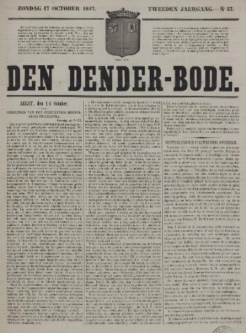 De Denderbode 1847-10-17