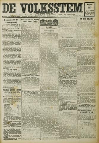 De Volksstem 1932-04-29
