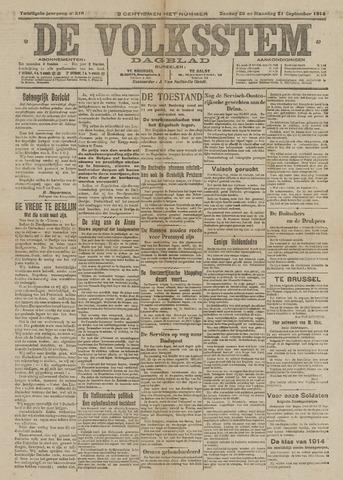De Volksstem 1914-09-20