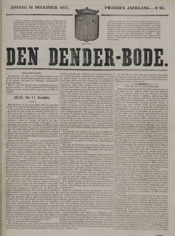 De Denderbode 1847-12-12