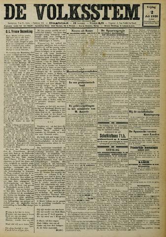 De Volksstem 1926-07-02