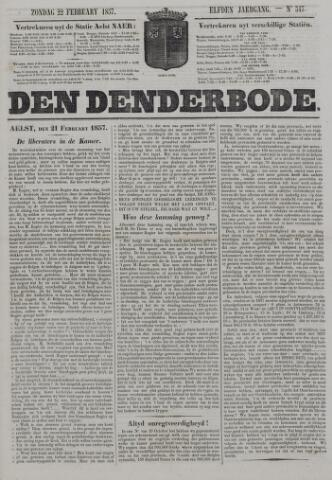 De Denderbode 1857-02-22